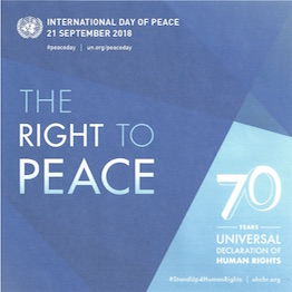 International Day of Peace poster 2018